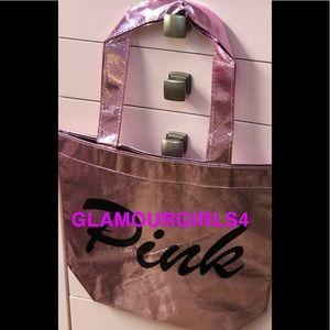 Pink Victoria's Secret reusable  pink tote NWT